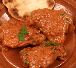 Recette poulet l 39 indienne ou poulet sauce rouge - Cuisse de poulet en sauce ...